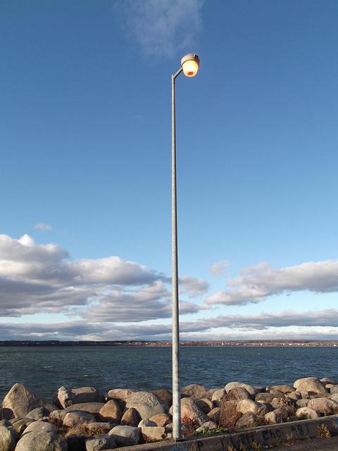 Lampadaire aquatique / Aquatic sea lamp - 20 novembre 2011