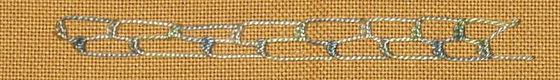 #69 - Buttonholed Double Chain stitch