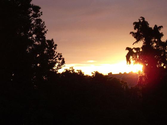 Looking eastwards at dawn