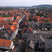 Goslar viewed from the tower of the Marktkirche.
