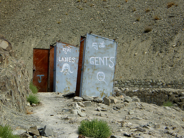 WC en haut Himalaya