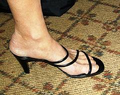 wife in Banana republic heels