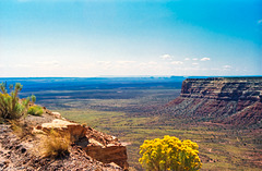 Valley of the Gods from Moki Dugway, Sept. 14th, 1991 (180°)