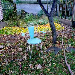 Ein Stuhl im Herbst