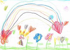 Rainbow, drawing