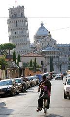 go straight ahead in Pisa