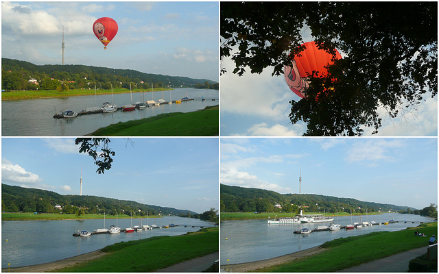 Heißluftballon im Elbtal