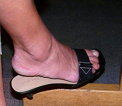 wife in nine west sandals