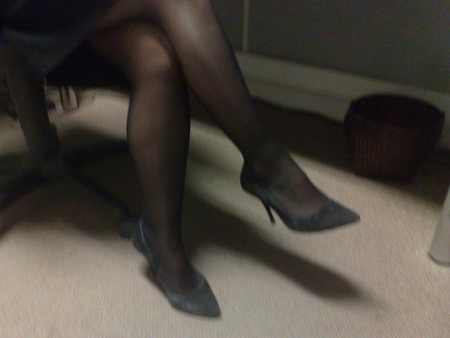 Lady Bergham en talons hauts / Lady Bergahm's high heels / Photo originale