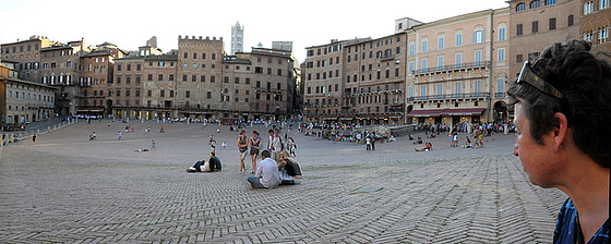 Siena - auf der Piazza del Campo