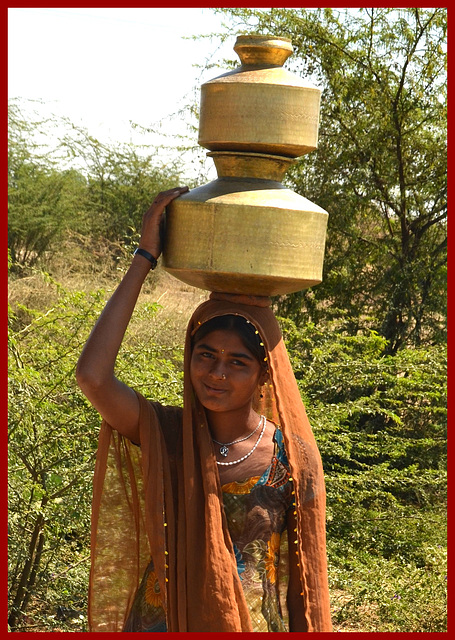 Water carrier. India.