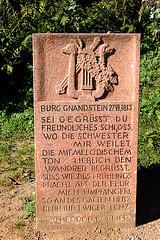 Poeto Theodor Körner en burgo Gnandstein