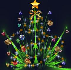 Arbre fractal de Noël