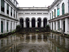 Wet courtyard
