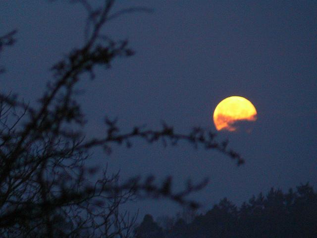 der Mond versinkt