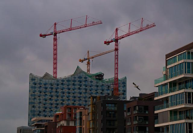 Hambourg..............le philarmonium en construction.