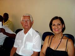 Edmo Lutterbach e Neide Barros Rêgo no Conservatório de Música de Niterói - 2006