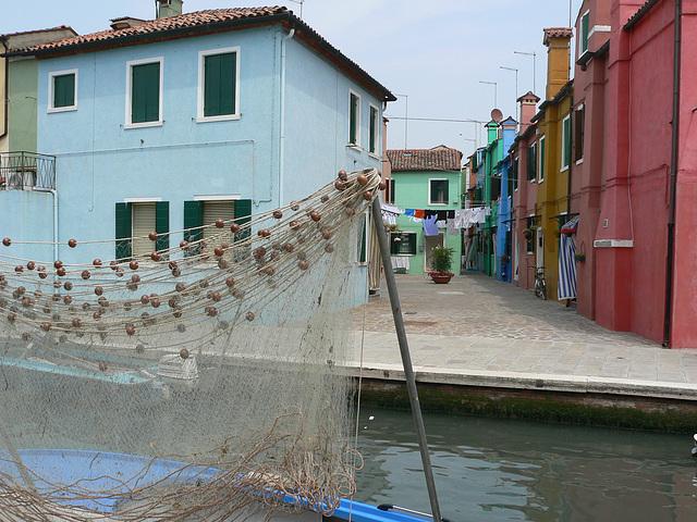Burano,dans la lagune de Venise