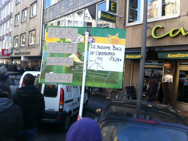 Stop Acta Demo Köln
