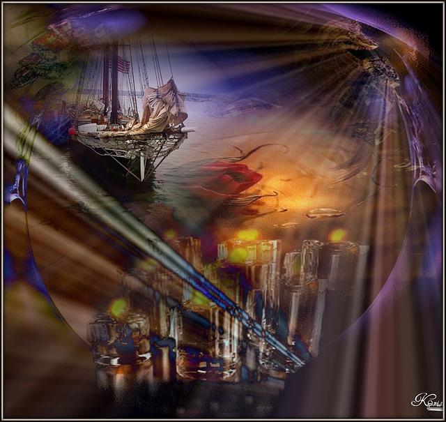 Poussés par les vents................ Les vents fous de nos chimères