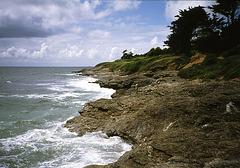 Küstenabschnitt in Frankreich