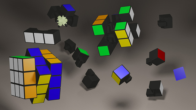 rubik render FINAL avec Blender 2.61