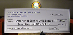 DHS POA Contribution to Little League (2000)