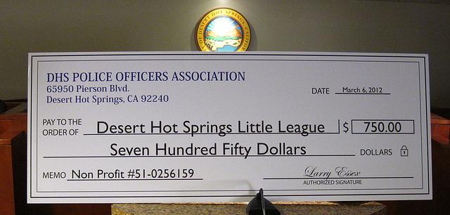 DHS POA Contribution to Little League (2000)