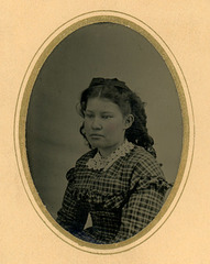 Tintype of Girl in Plaid Dress, Norristown, Pa. (Cropped)