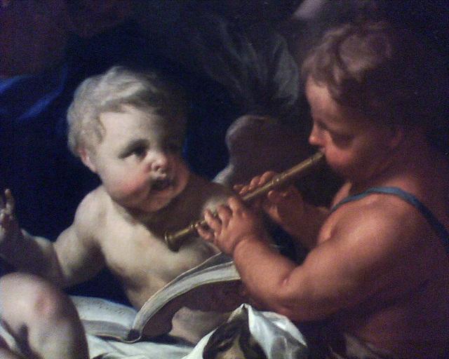 Le sommeil de l'Enfant Jésus, par Francesco Trevisani