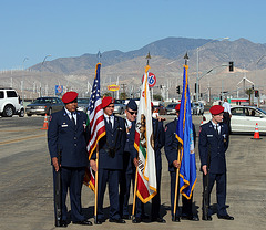 AFROTC Color Guard at I-10 Overpasses Ribbon Cutting (3365)