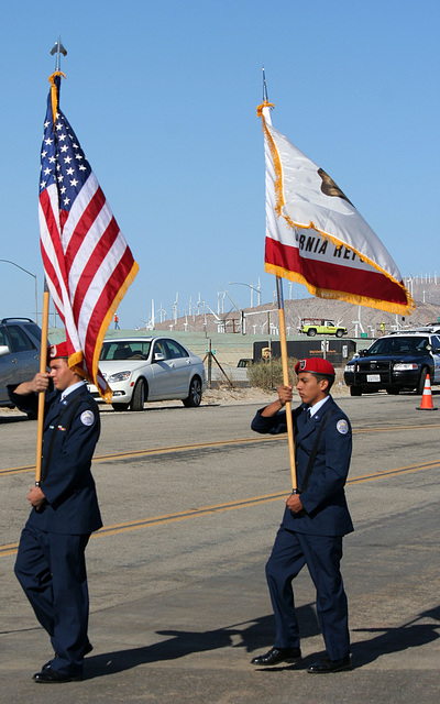 AFROTC Color Guard at I-10 Overpasses Ribbon Cutting (3377)