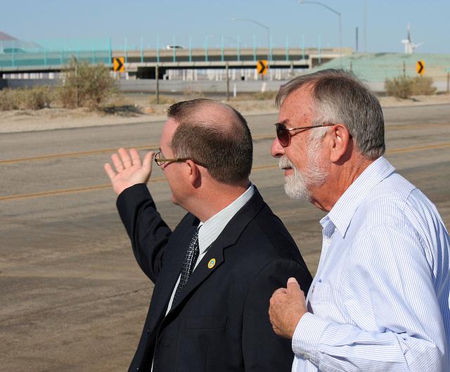 Councilmember Matas & Al Schmidt at I-10 Overpasses Ribbon Cutting (3341)
