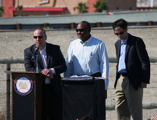 Dennis Green at I-10 Overpasses Ribbon Cutting (3432)