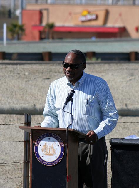 Dennis Green at I-10 Overpasses Ribbon Cutting (3435)