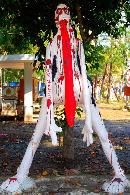 Phi Pret in Wat Phai Rong Wua