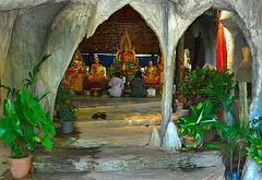 Inside Wat Tam Khao Wong