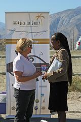 Joyce Daniels & Mayor Pro Tem Pye at I-10 Overpasses Ribbon Cutting (3443)