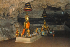 Inside an holy cave Tham Phiang Din