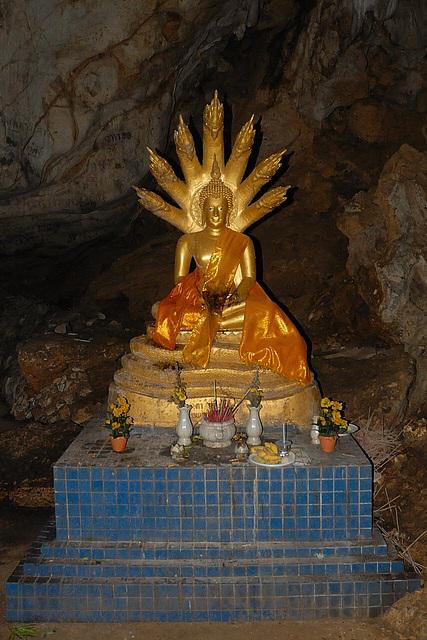 Buddha and a seven headed Nāga snake
