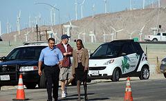 Martín Magaña & Mayor Pro Tem Pye at I-10 Overpasses Ribbon Cutting (3354)