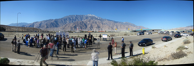 Mt San Jacinto at I-10 Overpasses Ribbon Cutting Panorama