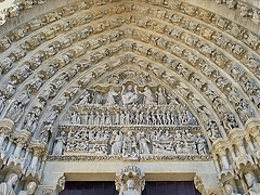 109 0997bc Somme Amiens Cathedral Notre Dame Central Porch