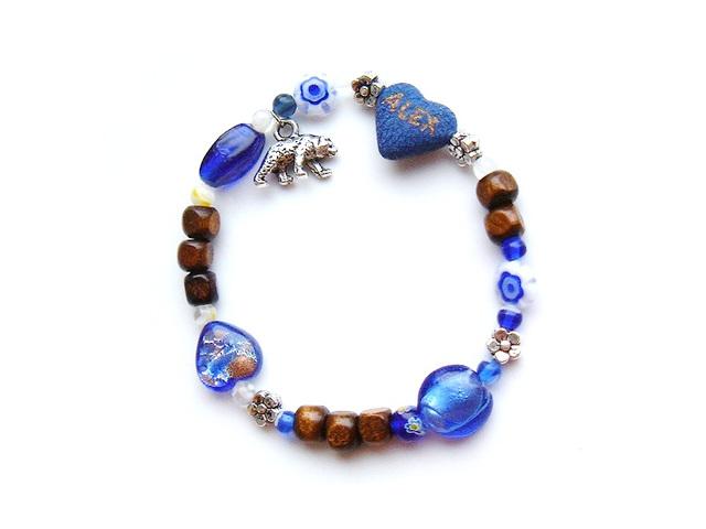 blue bear bracelet