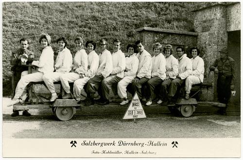 Hallein Salt Mine Tour, near Salzburg, Austria, July 31, 1962