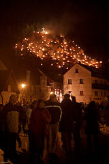Bergfeuer in Pottenstein