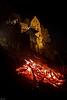 Burg Pottenstein mit Feuer