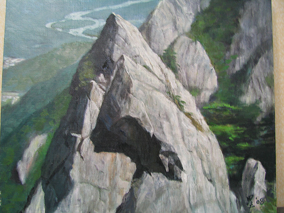 Monto Sorak 1(=Mt. Sorak 1=雪嶽1)_oil on canvas_38x45.5cm(8f)_2009_HO Song