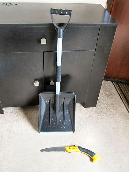 saw and shovel