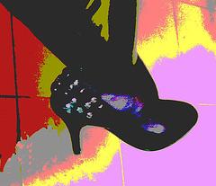 Lady 70 /  Escarpins et pantalons de cuir -Leather pants and high heels /  29 décembre 2011 - Recadrage postérisé